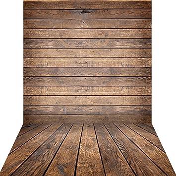 amazon com konpon 5x10ft brown wood floor backdrops for photography