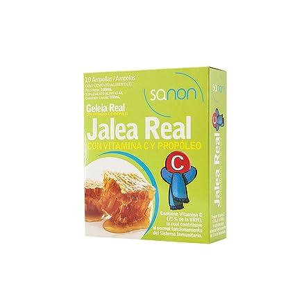 SANON - Jalea Real con Vitamina C y Propóleo, 10 ampollas de 10 ml