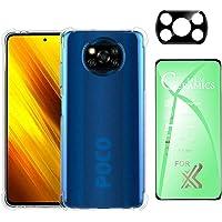 Kit Capa Poco X3 Pro, Película 9D Premium de Cêramica, Película de Câmera de Vidro 3D - (C7COMPANY)