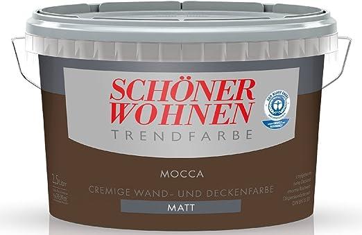 2 5 Liter Schoner Wohnen Farbe Trendfarbe Mocca Matt