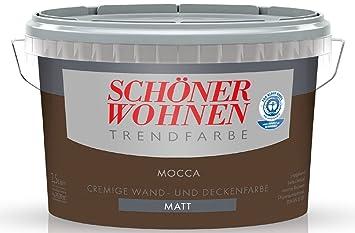 2,5 Liter SCHÖNER WOHNEN FARBE Trendfarbe »mocca«, matt: Amazon.de ...