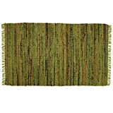 Sturbridge Country Rag Rug in Khaki 24'' x 72''
