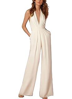 d7ad3556c3813 Lylafairy Tuta con Pantaloni Lungo Vestito Abito Cerimonia da Donna Elegante  Casual