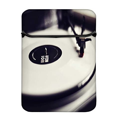 559c1649ef1d Snoogg Vinyl Record Player Black and White 13 Inch Laptop Case Flip ...