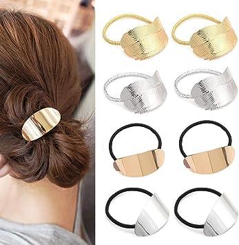 100 X Sport Elastische Seil Ring Haarband Frauen Haarband Pferdeschwanz Halter^