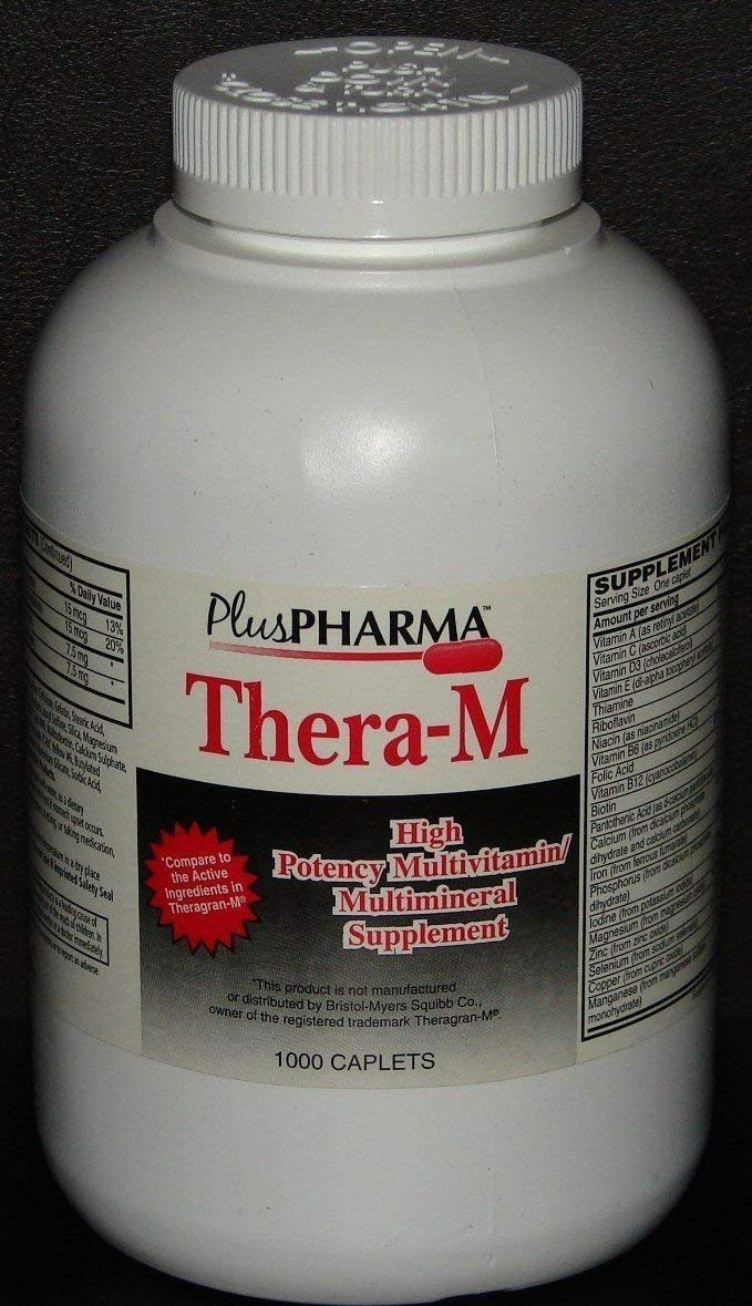 PlusPharma Thera-M Tablets 1000ct Compare to Theragran M Tablets