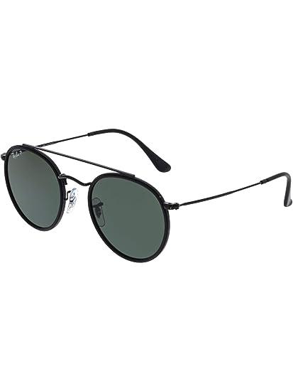 c9178d9265 Ray-Ban RB3647N 002 58 Black RB3647N Round Sunglasses Polarised Cycling