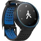 X2 Fitness Tracker,Bluetooth 4.0 Smart Watch Armband Armbanduhr 0.96 Zoll OLED Display, Blutdruck, Blut-Sauerstoff, Dynamischer Pulsmesser, Schlaf-Monitor+1X Uhr Band(andere Farbe) für Android iOS Sma