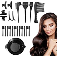 23 Pieces Hair Dyeing Tool Set, Hair Coloring Highlighting Tools Dye Hair Kits Including Dyeing Bowl, Hair Comb, Hairdressing Tinting Brushes, Clips, Spatulas for Salon Barbers or DIY Hair Color Dye