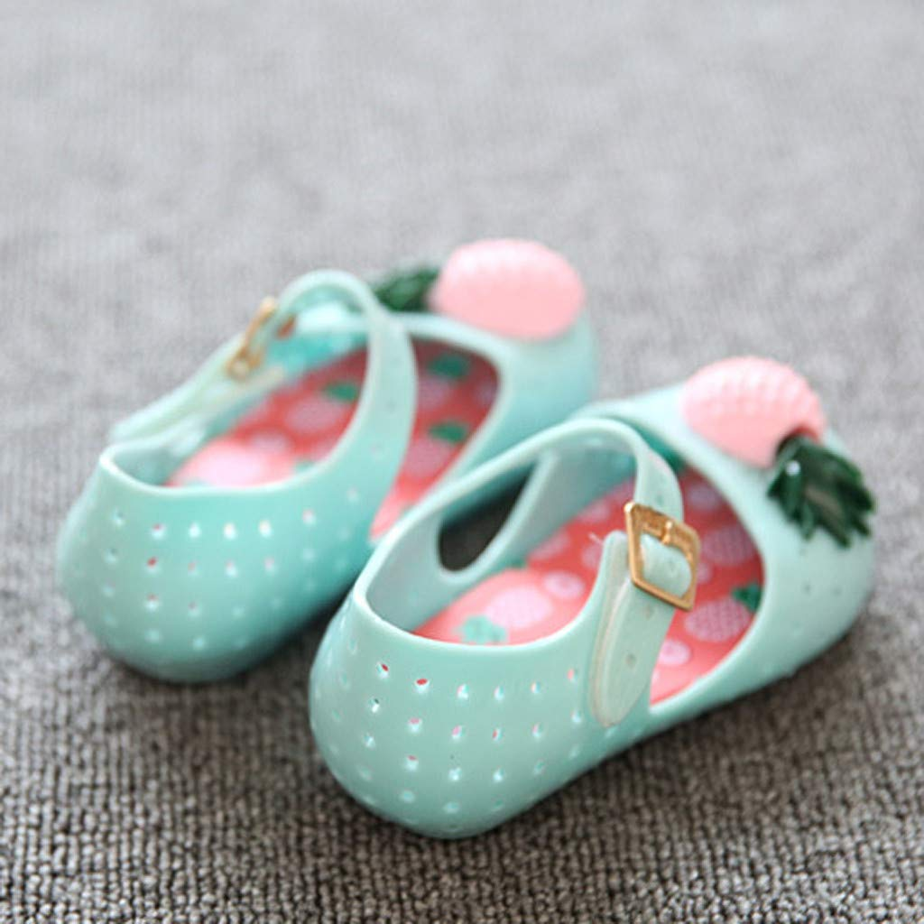 ❤️ Sunbona Baby Girls Beach Sandals Soft Sole Pineapple Summer Bottom Sandals Shoes Anti-Slip Casual Flat Sneaker Shoes