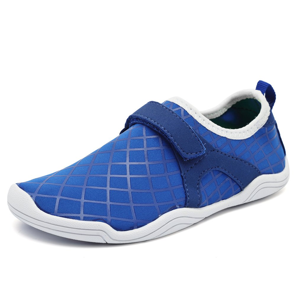 Fantiny Boys & Girls Water Shoes Lightweight Comfort Sole Easy Walking Athletic Slip on Aqua Sock(Toddler/Little Kid/Big Kid) Driving DKSX-f.blue-29