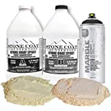 Stone Coat Countertops 1 Gallon Epoxy Resin Kit with Marble Spray Paint and Mica Powder – DIY Countertop Paint Kit for Creati