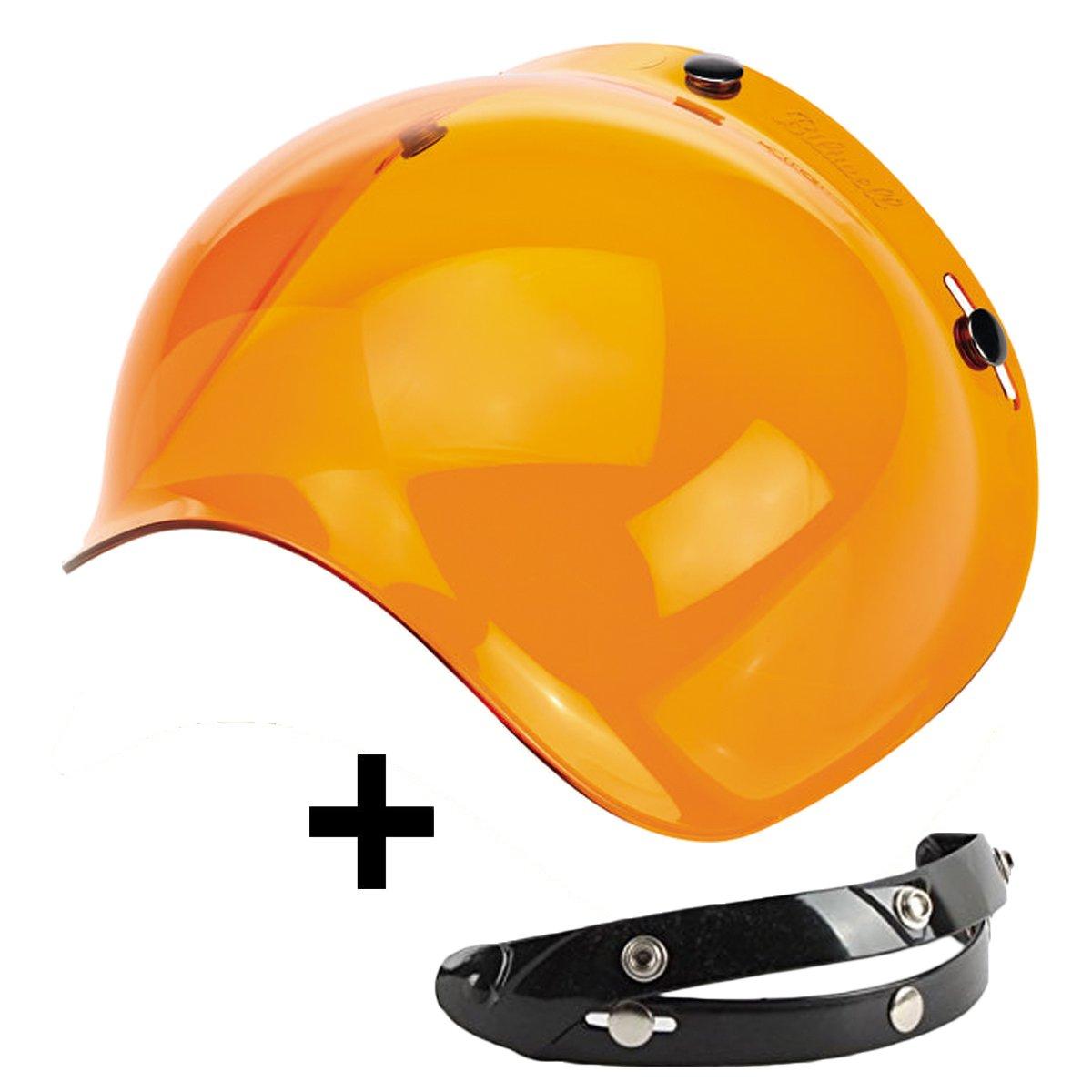 AGV. Bell universal f/ür Jet-Helme Bandit Visier Bubble mit 3 Kn/öpfen kompatibel mit Helmen von Biltwell AFX zur/ückklappbar DMD Nolan Orange
