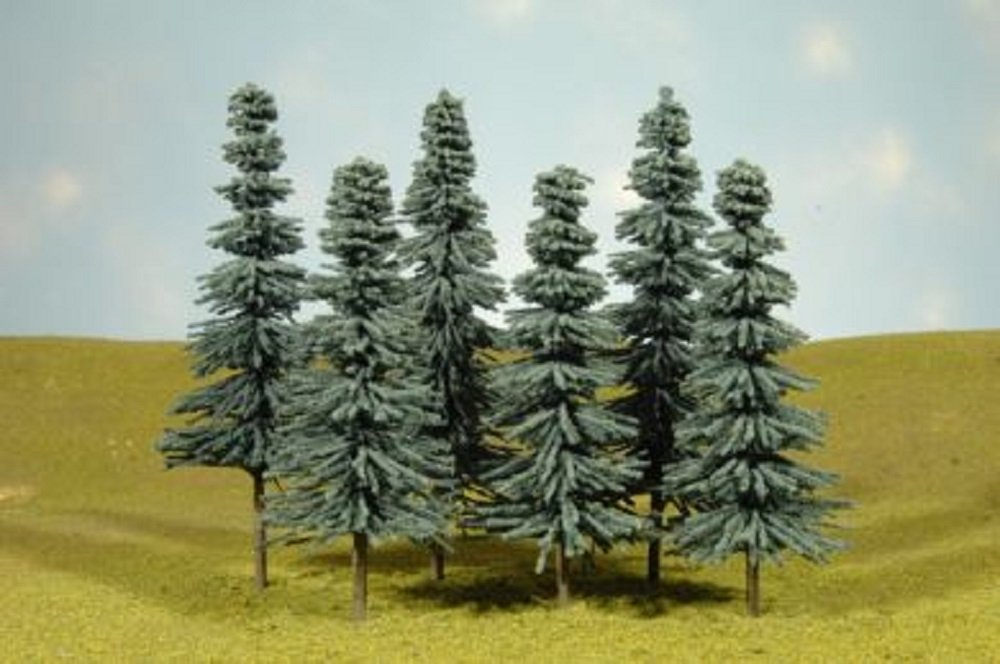 Bachmann Industries Scene Scapes Trees 5''- 6'' Blue Spruce Trees Train (6 Per Box)