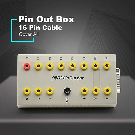 Dailyinshop OBD2 Pin out Box Breakout Tester Detector de diagnóstico automático de protocolo de Coche Pinout