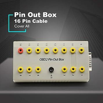 Dailyinshop OBD2 Pin out Box Breakout Tester Detector de diagnóstico automático de protocolo de Coche Pinout (Color: Blanco): Amazon.es: Juguetes y juegos