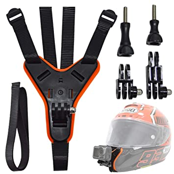 Motorcycle Helmet Chin Mount For Gopro Full Face Helmet Jaw Mount Holder Strap With Extension Swivel Arm Kits Compatible With Gopro Hero 7 6 5 Action