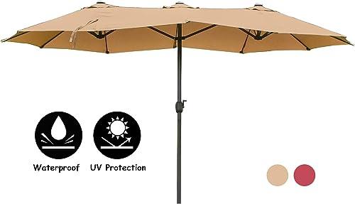15Ft Patio Double-Sided Umbrella