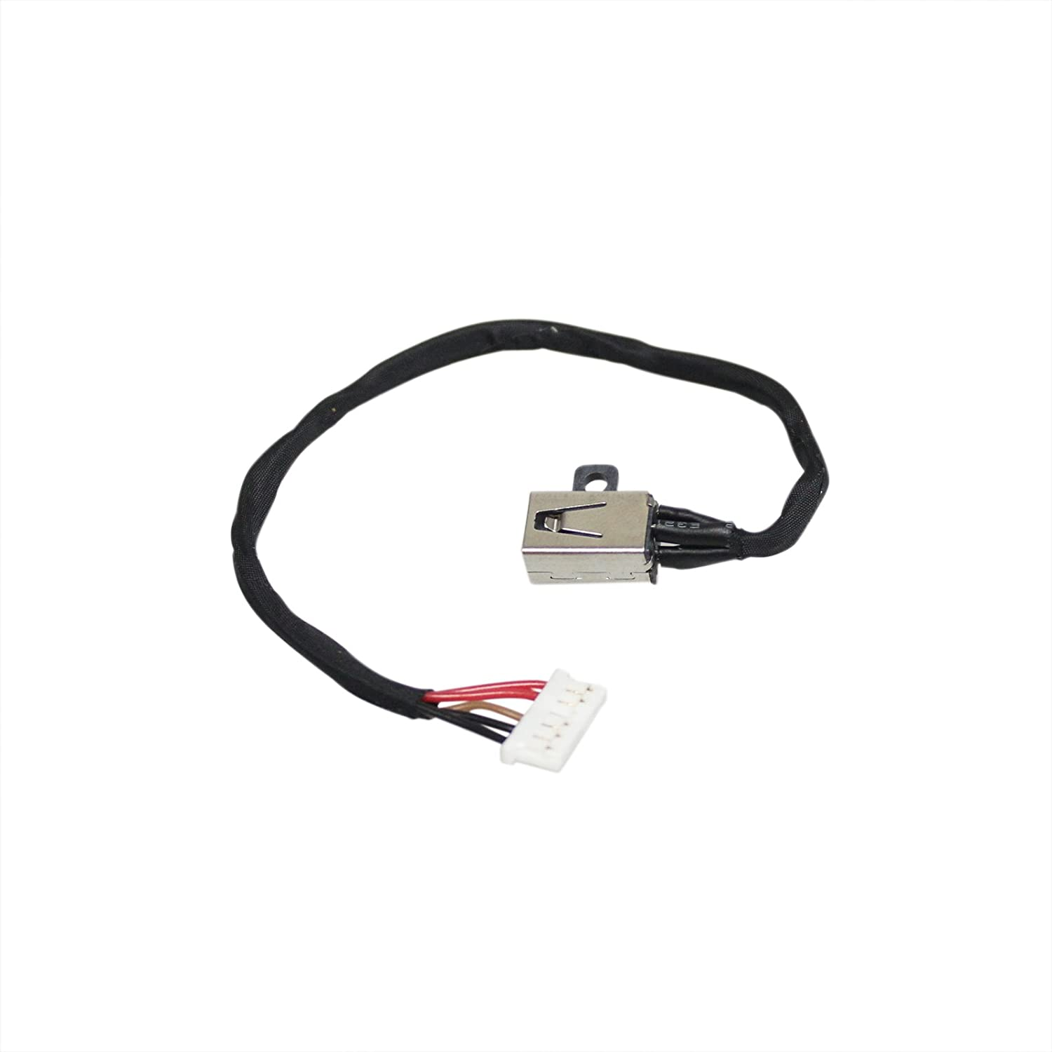 GinTai DC in Power Jack with Cable Socket Plug Connector Port Replacement for Dell Inspiron 17 i5758-5714s 37KW6 DC30100UB00