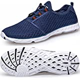 TIANYUQI Women's Mesh Slip On Water Shoes,Blue 2,39EU/8.5US