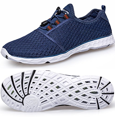 TIANYUQI Women's Mesh Slip On Water Shoes Blue 2