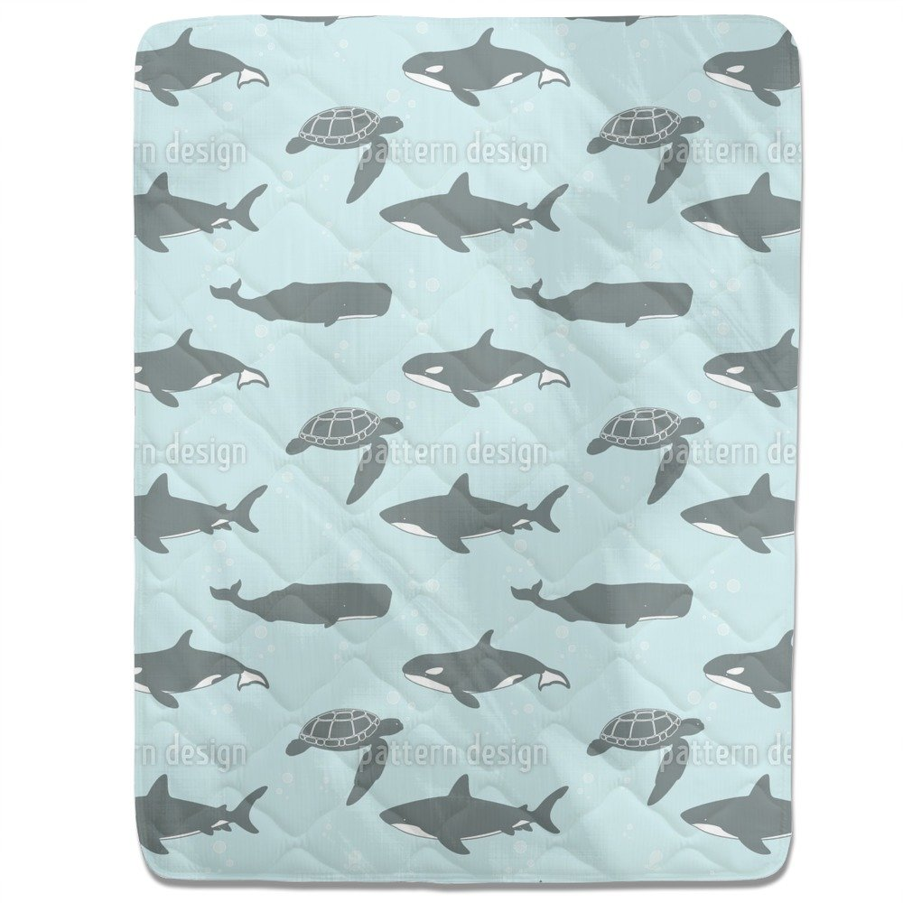 Marine Animals Fitted Sheet: King Luxury Microfiber, Soft, Breathable