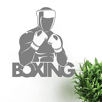 pegatinas de pared Boxeador Guantes de boxeo Letrero deportivo Decoración para el hogar Dormitorio Regalo para