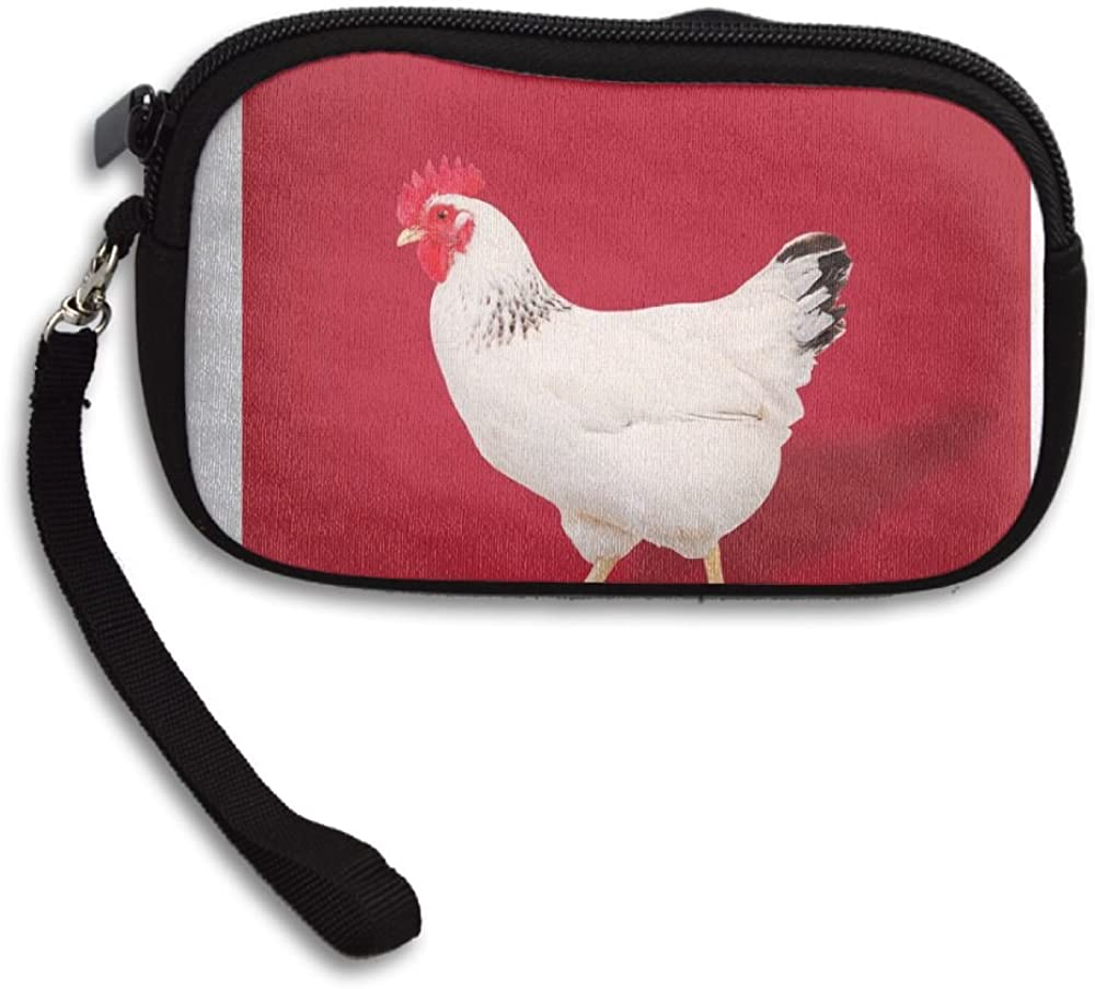 Cock Deluxe Printing Small Purse Portable Receiving Bag