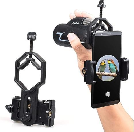 SEEKONE - Soporte Universal para teléfono móvil para telescopio, prismáticos, monocular y microscopio, Compatible con iPhone, Sony, Samsung, Moto etc.: Amazon.es: Electrónica