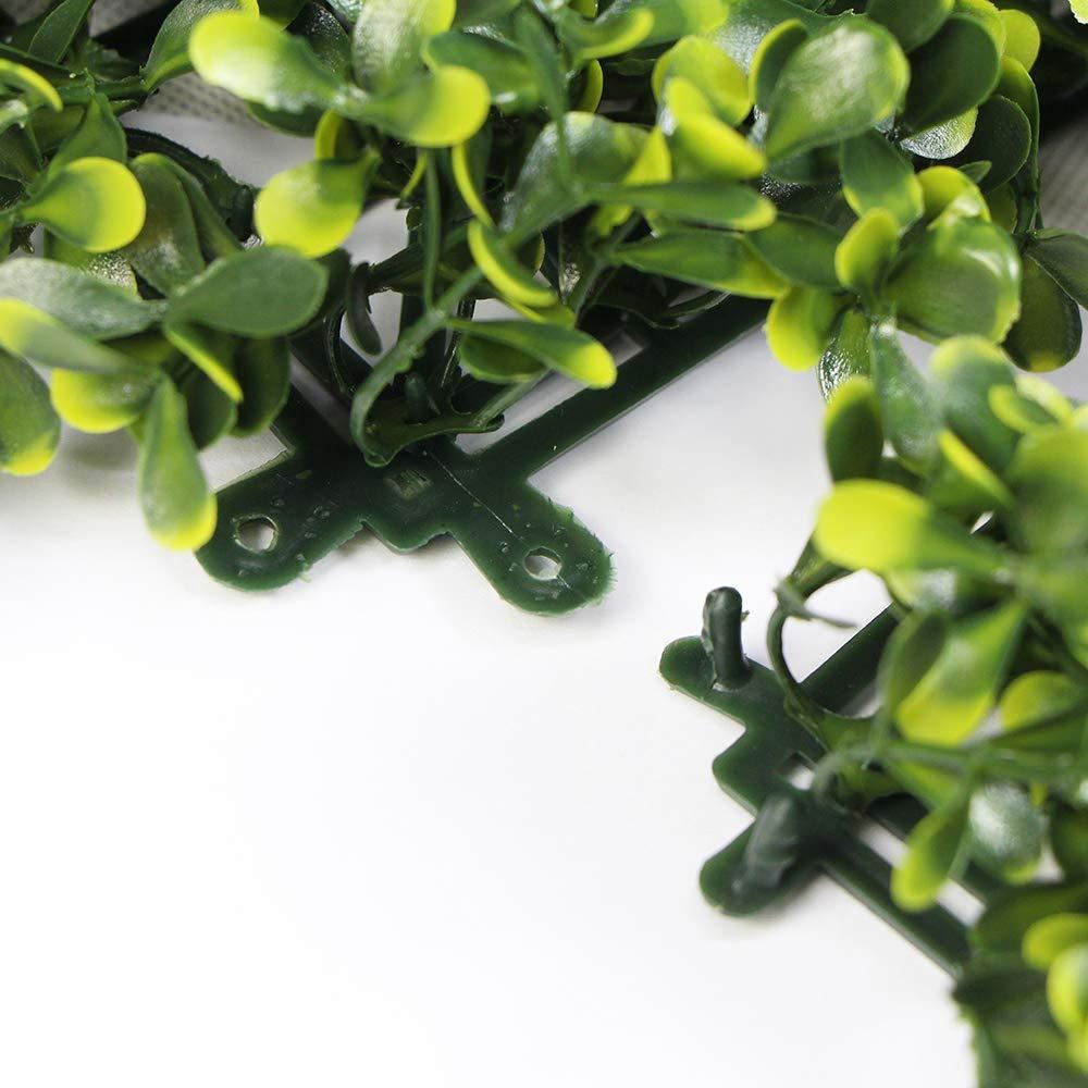 Confezione da 1 pezzi Uland Siepe di Bosso Artificiale 25*25cm//pc Decorazioni della pianta da parete