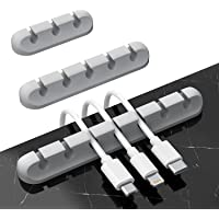 Cable Management, SOFER Cable Clips, 3-Pack Adhesive Cable Clips for Car Home and Office (7, 5, 3 Slots), for Mouse…