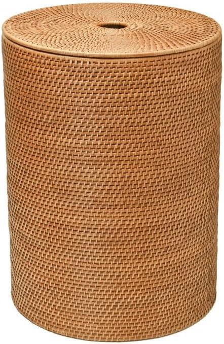 Whitmor 6277-6702 Natural Rectangular Bamboo Hamper with Rope Handles