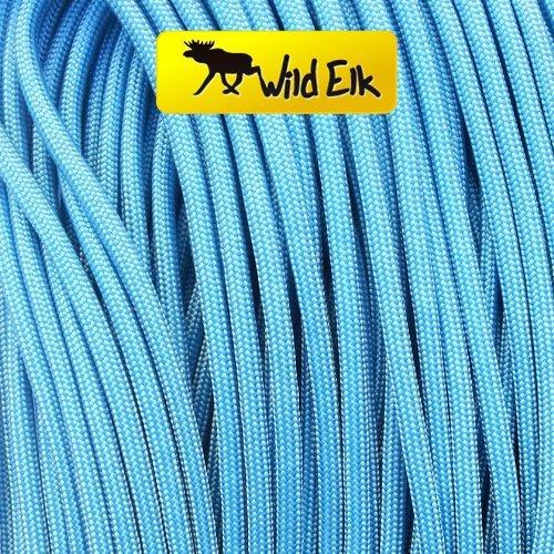 Wild Elk Paracorde Type III 7 brins Qualité commerciale Bleu ciel 30,5 m
