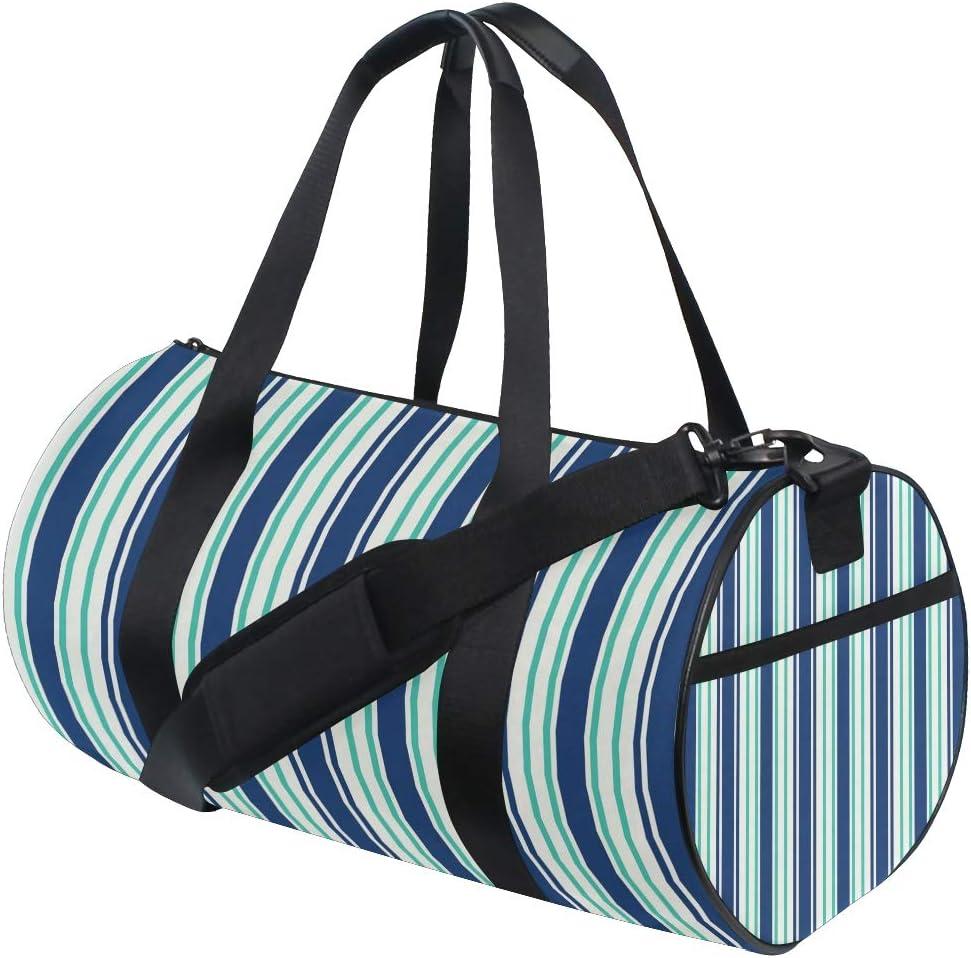 MALPLENA Vertical Bar Drum gym duffel bag women Travel Bag