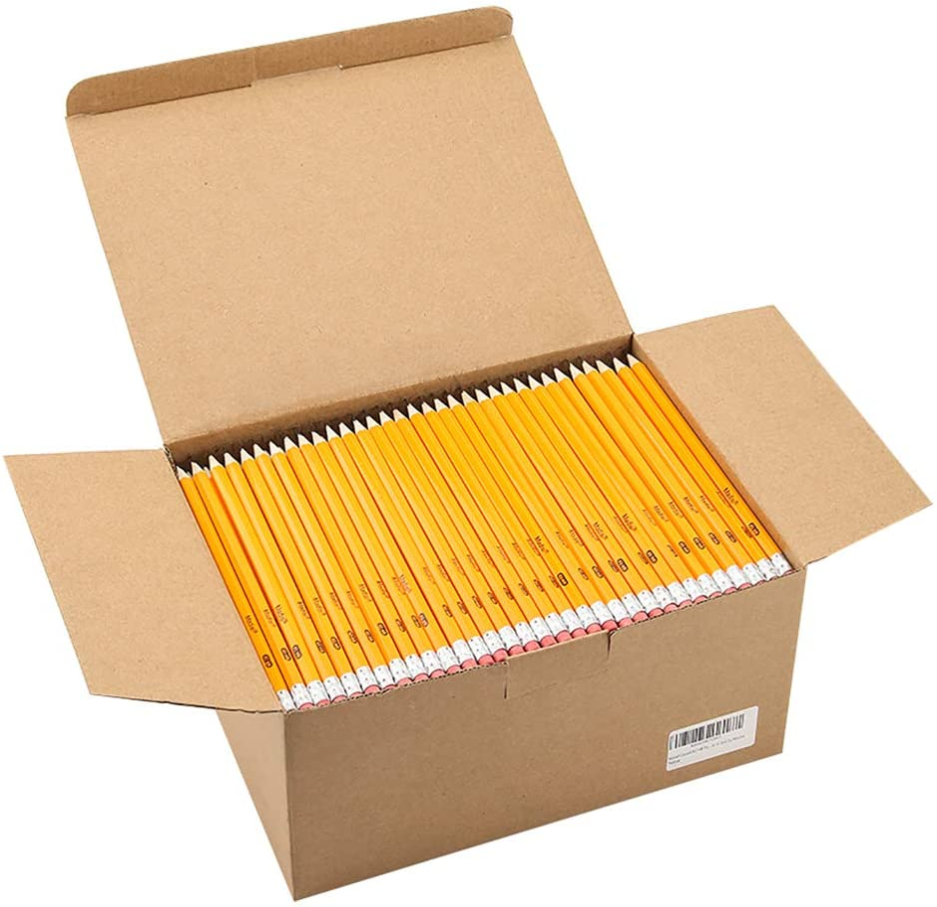Box of #2 pencils.