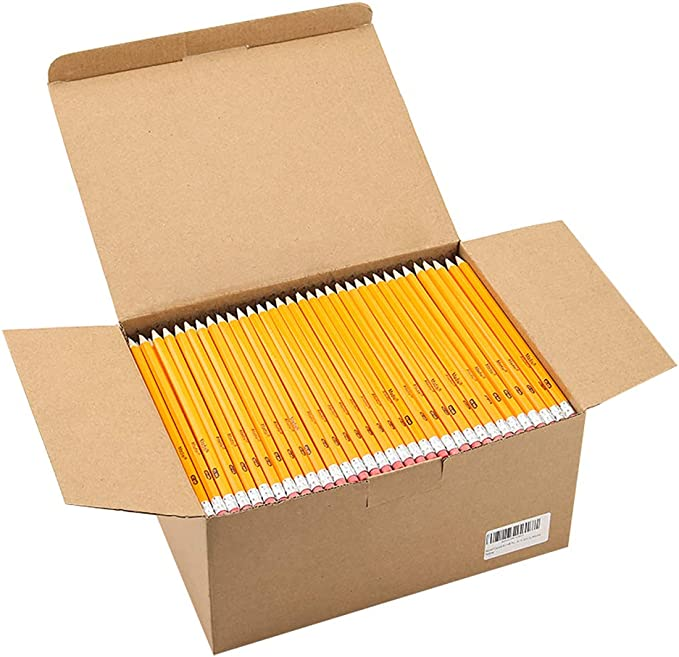 Madisi - Lápices HB n.º 2, amarillo, preafilados, paquete de clase, 576 lápices en caja: Amazon.com.mx: Oficina y papelería