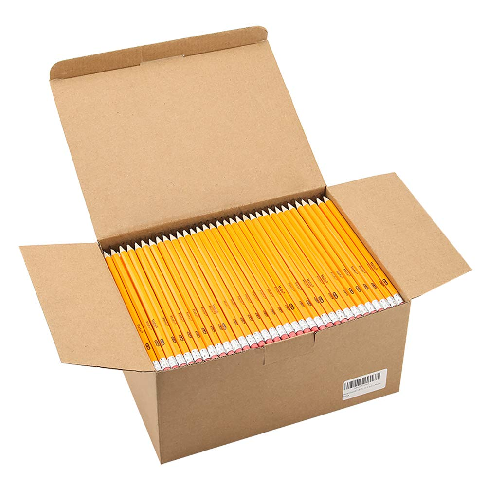 Wood-Cased #2 HB Pencils, Yellow, Pre-sharpened, Class Pack, 576 pencils in box by Madisi by Madisi