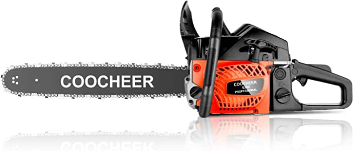 """Tinfancy Gas Chainsaw, 62CC 20"""" Woodcutting Chain Saw, 2 Stroke Handed Petrol Chainsaws with Tool Kit"""