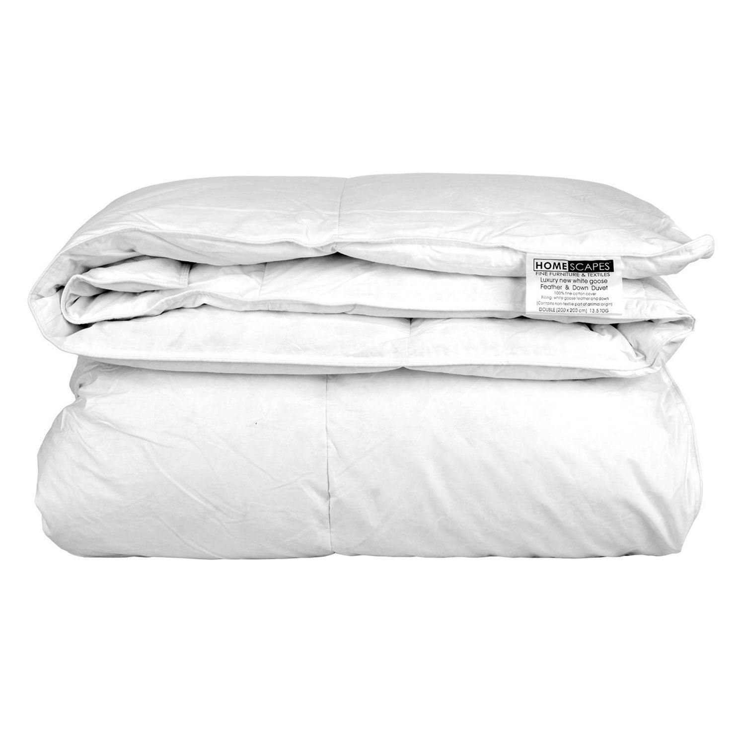 dp proof fabric feather allergen mite anti cotton home dust double washable luxury homescapes tog down white at duvet goose