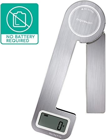 Aigostar Nano Klappbare Kuchenwaage Wandkuchenwaage Design Digitale Haushaltswaage Mit Lcd Display Waage Mit 5kg 11lb Silber Nano Amazon De Kuche Haushalt