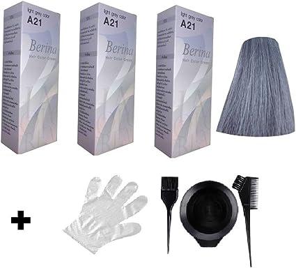Berina A21 - Tinte para el pelo largo (3 unidades), color ...