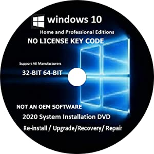 WINDOWS 10 Pro / home 32-64 bit RECOVERY FIX REINSTALL REPAIR REPLACE BOOT REBOOT RECOVERY INSTALL RESTORE TO FACTORY