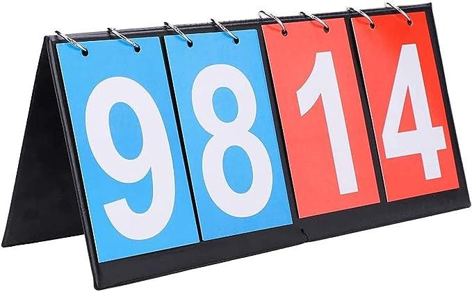 00-99 Voleibol Tenis Seully Marcador Deportivo Azul y Rojo Tenis de Mesa,Marcador Port/átil 2 D/ígitos Marcador para Voleibol 2pcs Marcadores Port/átiles Baloncesto