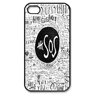 Best Quality [SteveBrady PHONE CASE] 5SOS,5 Second of Summer Band For Iphone 4 4SCASE-1