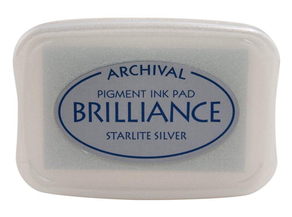 Tsukineko Brilliance Full-Size Pad, Starlite Silver BR000093