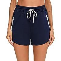 Akalnny Pantalones Cortos Deportivos para Mujer Pantalones Deportivos al Aire Libre con Bolsillos Adecuados para…