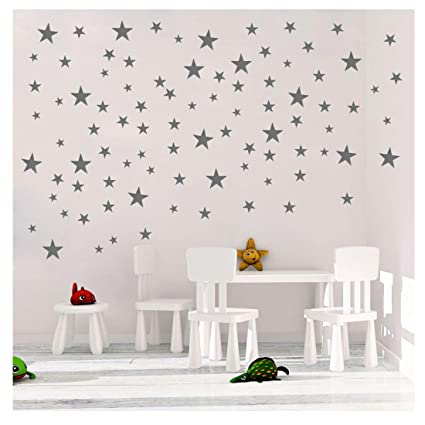 Awesome DCTOP Stars Wall Decals (124 Decals) Wall Stickers Removable Home Decoration  Easy To Peel