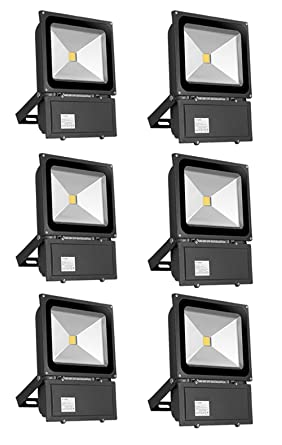PrimLight 6 pcs 100W Impermeable Blanco Cálido Luz Foco LED ...