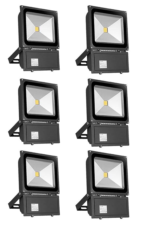 PrimLight Foco Led Exterior 6X 100W,Focos de Exterior,Proyector ...