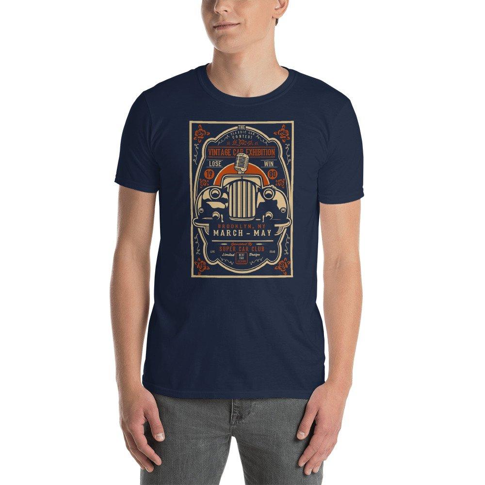 2 Short-Sleeve Unisex T-Shirt DR-MASTERMIND Vintage-Car-Exhibition